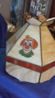 Art Decco stained glass Tiffany style Clown lamp