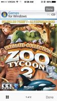 Zoo Tycoon 2 + 4 expansions (3 disc bundle)