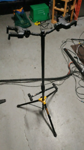 Guitar bass double stand