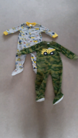 2 Carters Sleepsuits with feet Age 18 months