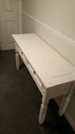 REDUCED Lovely solid wood white console table