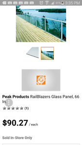 Peak Glass Panal great shape 66 inch for sale $65.00