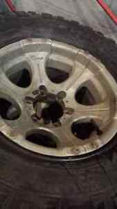 "SET OF 4 DICK CEPEK 15"" RIMS TIRES ARE SOLD"