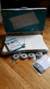 Wii u fit board with game.