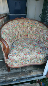 Antique french provincial chair