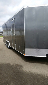 8.5x24 +3ft v nose enclosed trailer