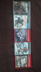 Five PlayStation 3 Games for sale