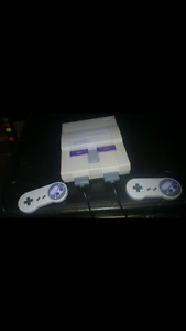 Super Nintendo with 8 games