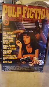Pulp fiction wood board poster