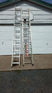 2 ladders one 20 the other 24 ft long in excellent condition