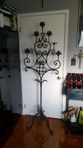 Floor Standing Wrought Iron 6 Candle Candelabra