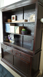 Hutch Display Cabinet.. $320