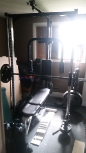 Smith machine for working out