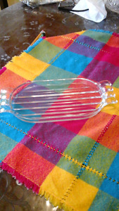 Vintage art deco style glass dish or dresser tray
