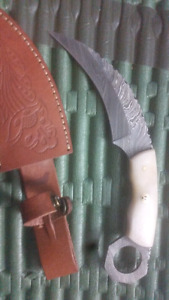 Knives Damascus and hatchet