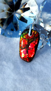 Amazing High Grade Alberta Ammolite pendants with .925 silver!