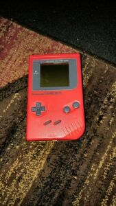 RED ORIGINAL NINTENDO GAMEBOY FOR SALE