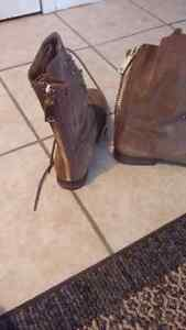 Womens suede boots size 9