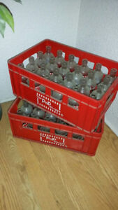 POP SHOPPE 48 BOTTLES AND 2 PLASTIC CARRY CASES