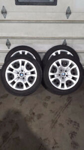 Set of 4 BMW X3 STEEL WHEELS and HUBCAPS 17""