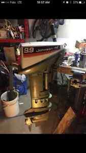 1974 9.9 Johnson long shaft outboard boat motor