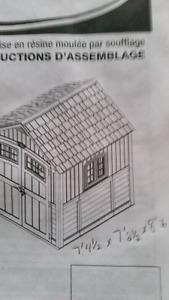 Plastic shed kit