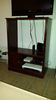 Mahogany Stained Entertainment Center