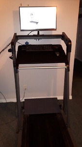 STAND UP DESK | SPACE SAVING STANDING TREADMILL DESK SAVE $2000