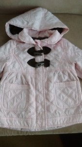 Carter's girls  pink and brown coat