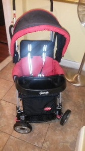Joovy sit and stand double stroller +adapter