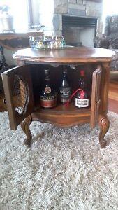 Meuble buffet cabinet antique Louis XV,table d ' appoint