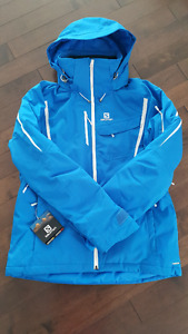 BRAND NEW Men's Salomon insulated ski & snowboard jacket Large