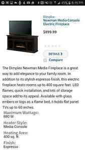 Media fireplace for sale