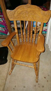 Child antique rocking chair