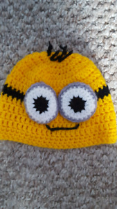 Minions knitted hat