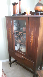China cabinet - solid wood...not particleboard.