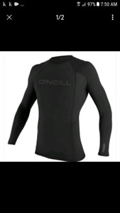 Brand New ONEILL Thermo-X Insulated Rash Guard S