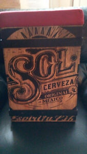 AUTHENTIC MEXICAN SOL BEER STOOLS