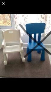 Chaise IKEA & Chaise Berçante Ficher-Price
