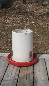 Container for chicken feed