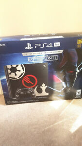 PS4 Pro 1TB Star Wars Battlefront 2 Limited Edition and warranty