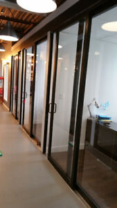 frameless office glass partition/ windows and doors for sale