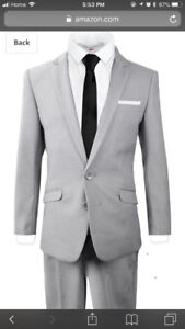 Slim fit GQ formal suit for boys