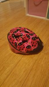 Toddler girl's bike helmet