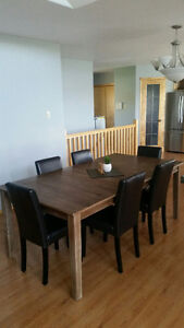 Dining Room Table w/ 6 Chairs from The Brick