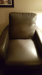 Accent or Side Chair Faux-leather Warm gray colour