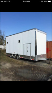 2014 28'  stacker trailer by cargomate