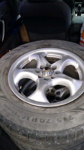 215 70r 16 winter tires on alloy rims