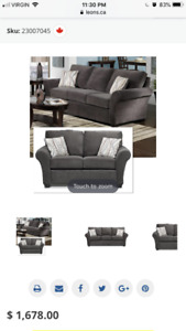 Leon's Langley Couch & Loveseat