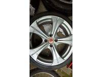 4 wolf race alloy wheels